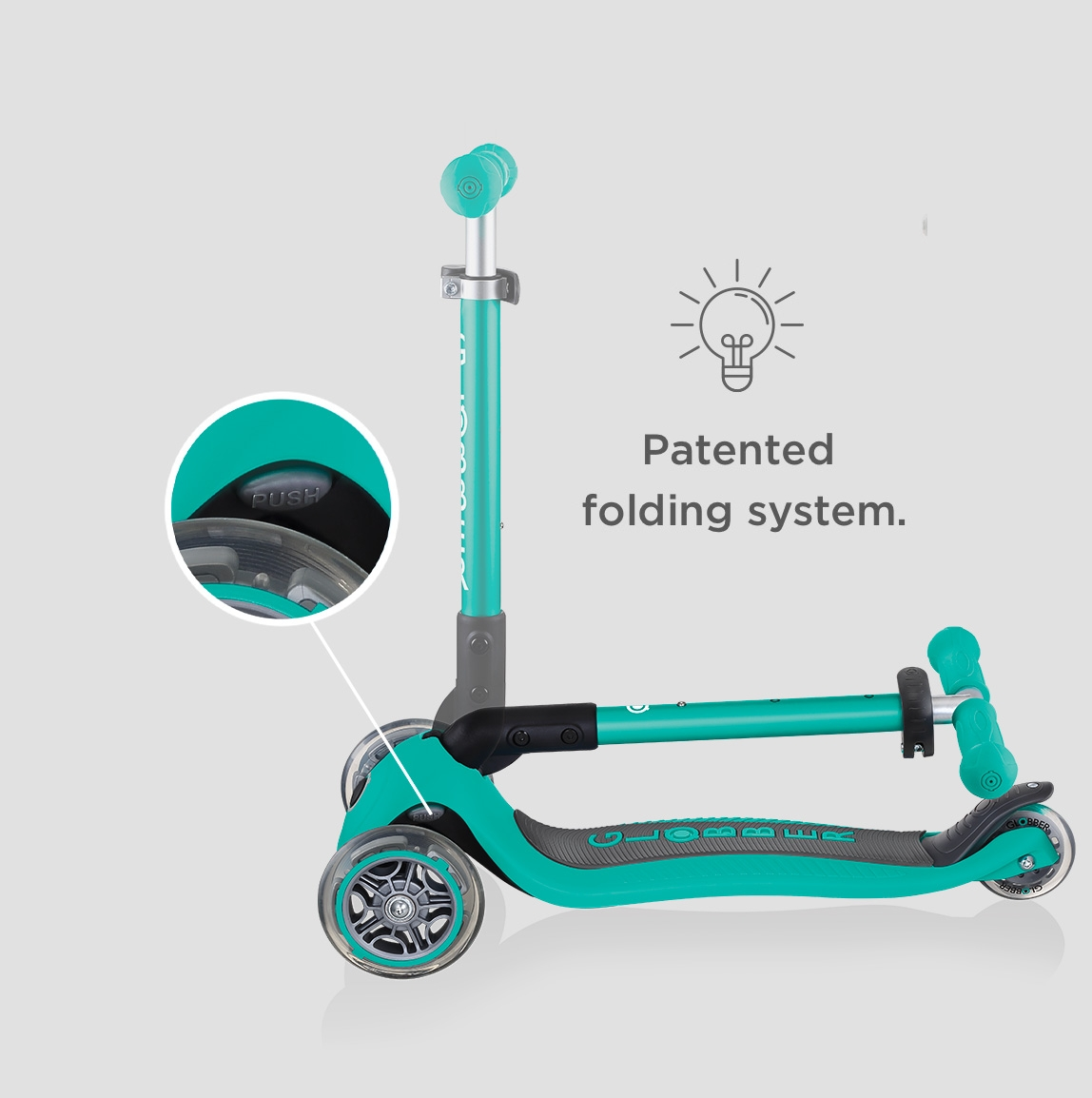 foldable 3 wheel toddler scooters for 2 year olds - Globber JUNIOR