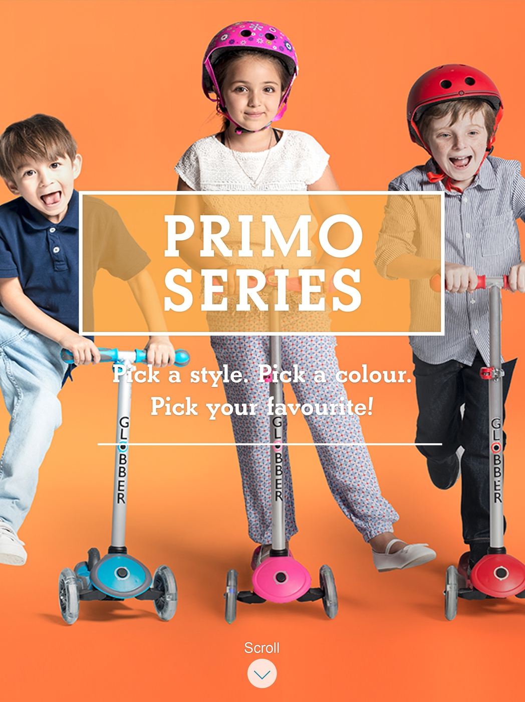 Stylish 3-wheel scooters for kids