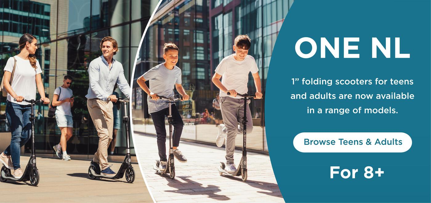 "1"" sec folding scooters for teens and adults are now available in a range of models."