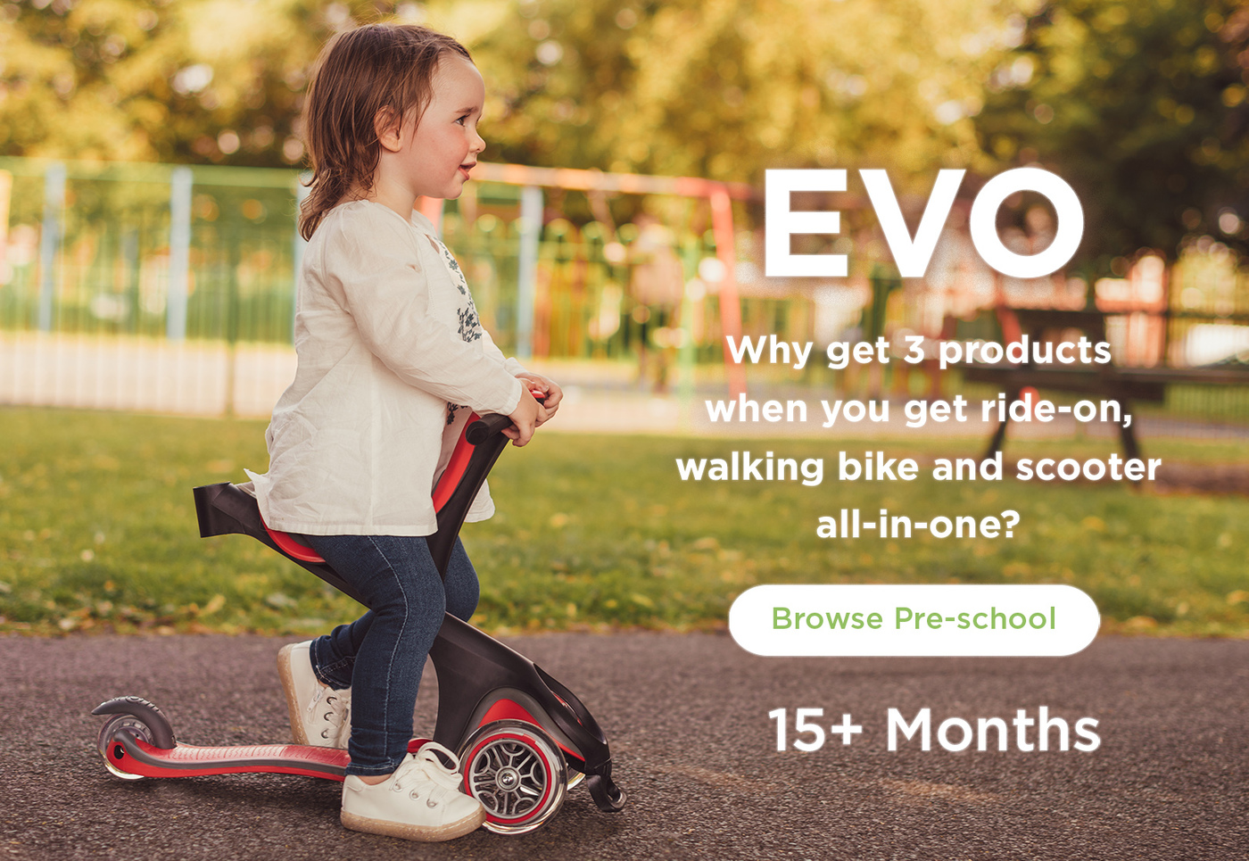 Why buy 3 products when you can get a ride-on, walking bike & scooter all-in-one?