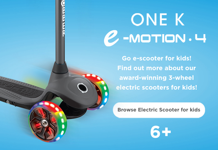 Go e-scooter for kids! Find out more about our award-winning 3-wheel electric scooters for kids!   3-wheel electric scoters for kids!