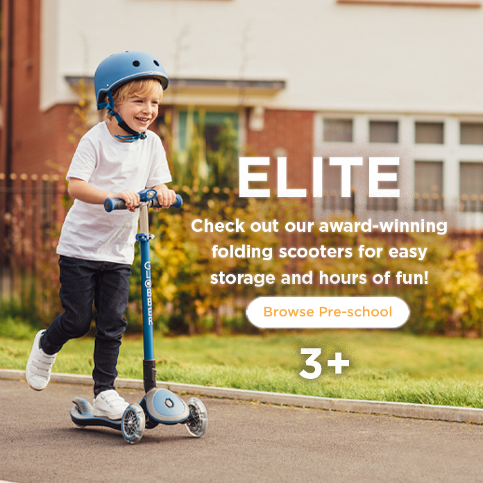 Check out our award-winning folding scooters for easy storage and hours of fun!