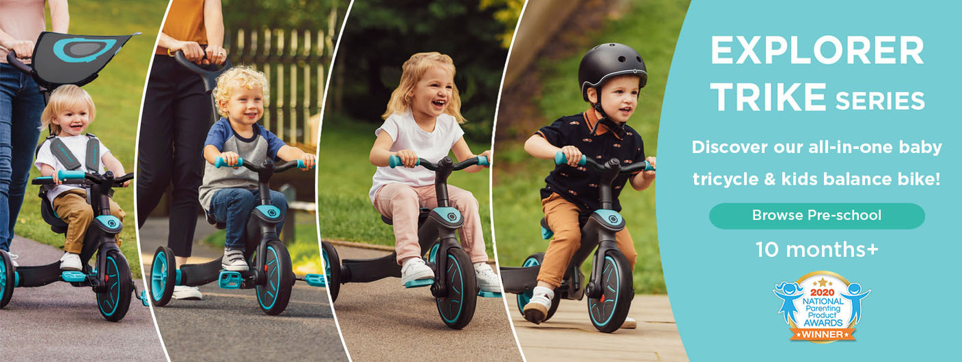 Discover our all-in-one baby tricycle & kids balance bike!