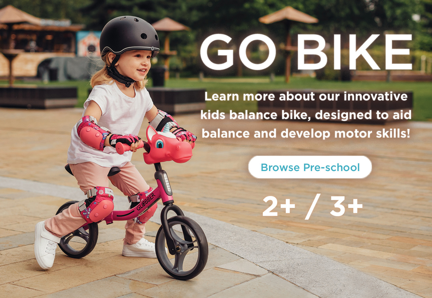 Learn more about our innovative kids balance bike, designed to aid balance and develop motor skills!