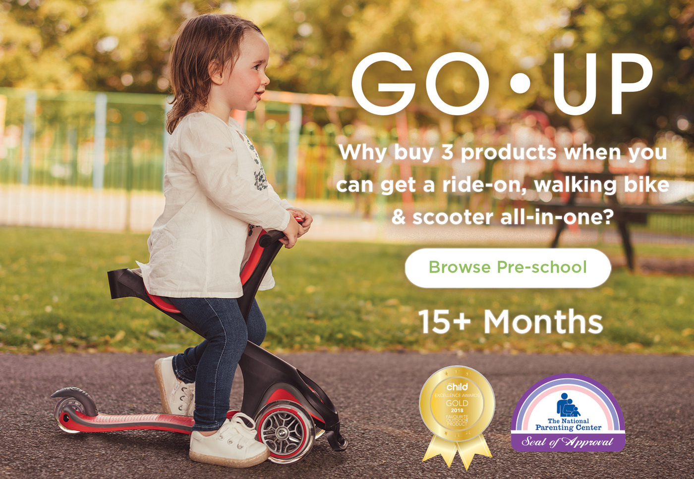 Why buy 3 products when you can get ride-on, walking bike & scooter all-in-one?