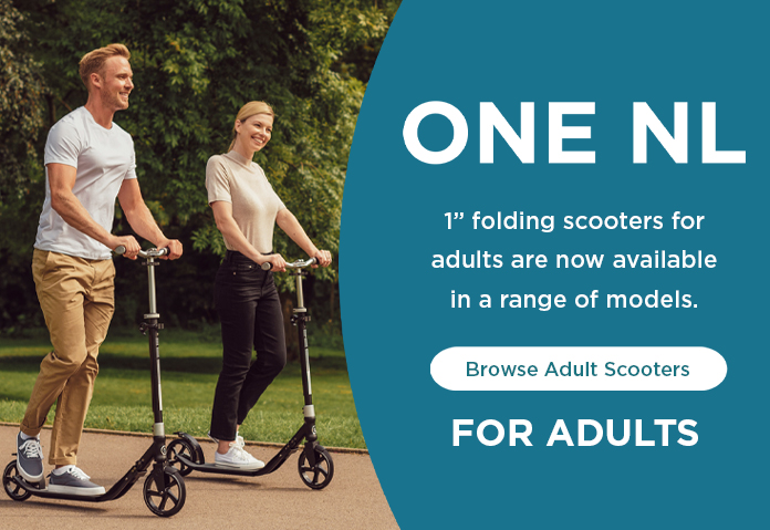 "1"" folding scooters for adults are now available in a range of models."