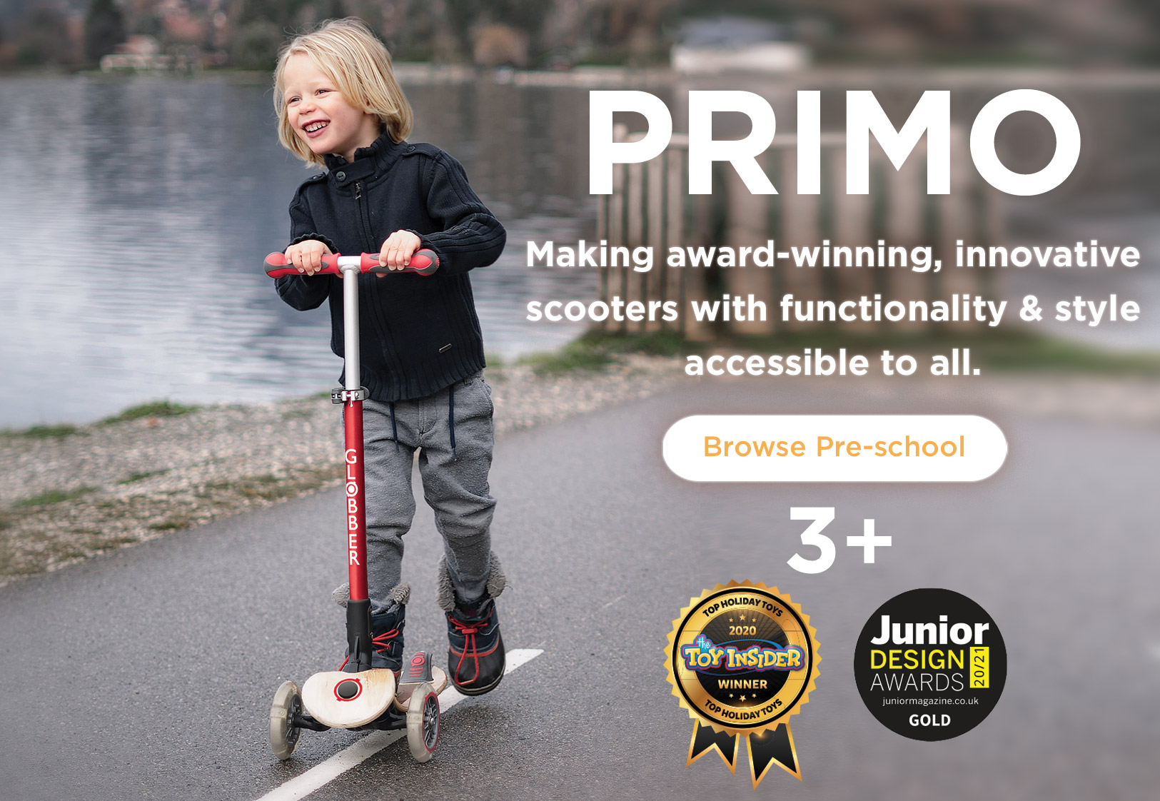 Globber-PRIMO-award-winning-innovative-3-wheel-scooters-for-kids