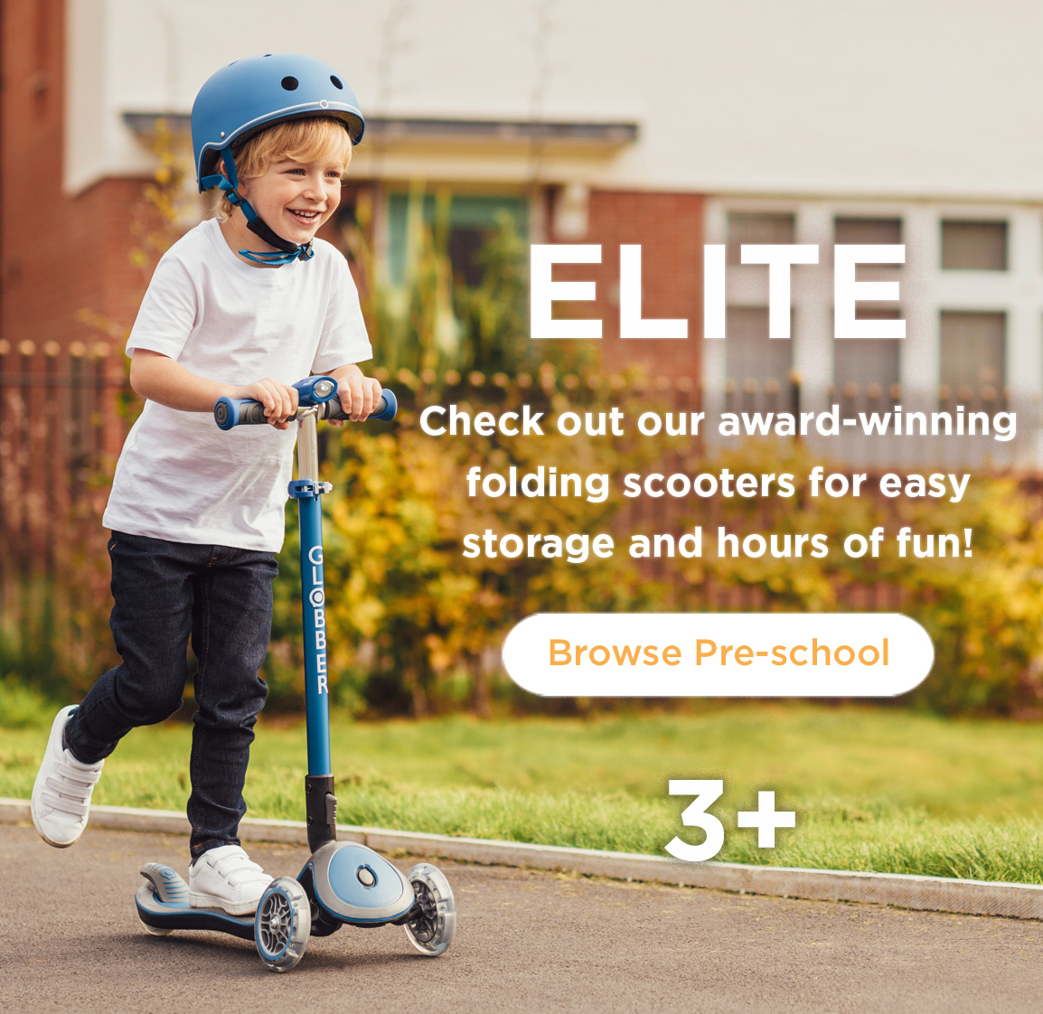 Check out our award-winning folding scooters for easy storage & hours of fun!