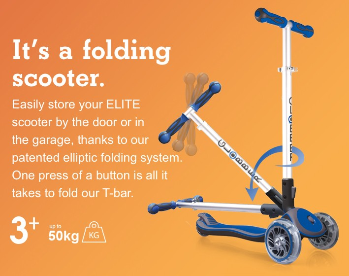 It's a folding scooter.