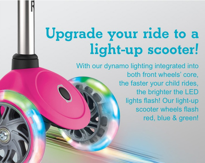 Upgrade your ride to a light-up scooter!