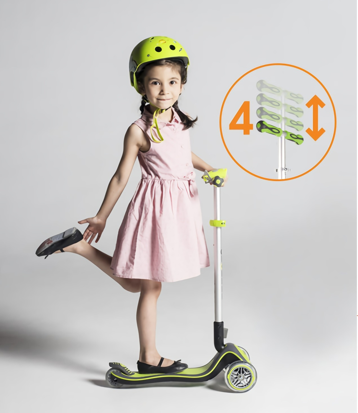 adjustable scooters with light-up wheels