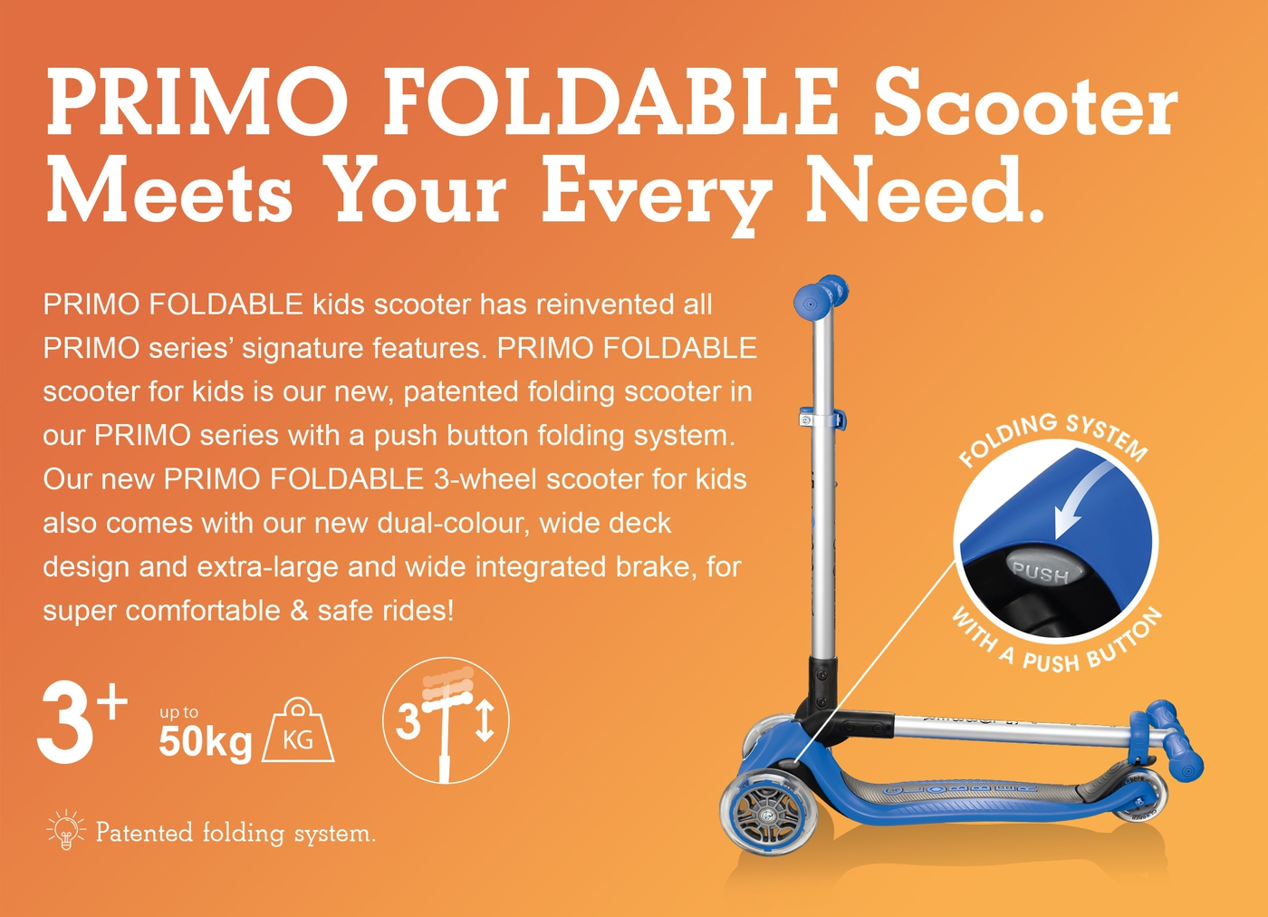 PRIMO FOLDABLE Scooter Meets Your Every Need.