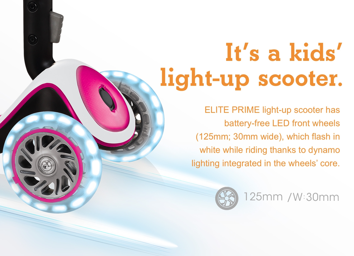 It's a kids' light-up scooter.