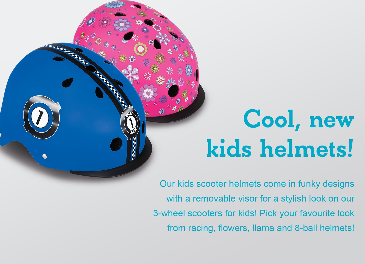 Cool, new kids helmets!