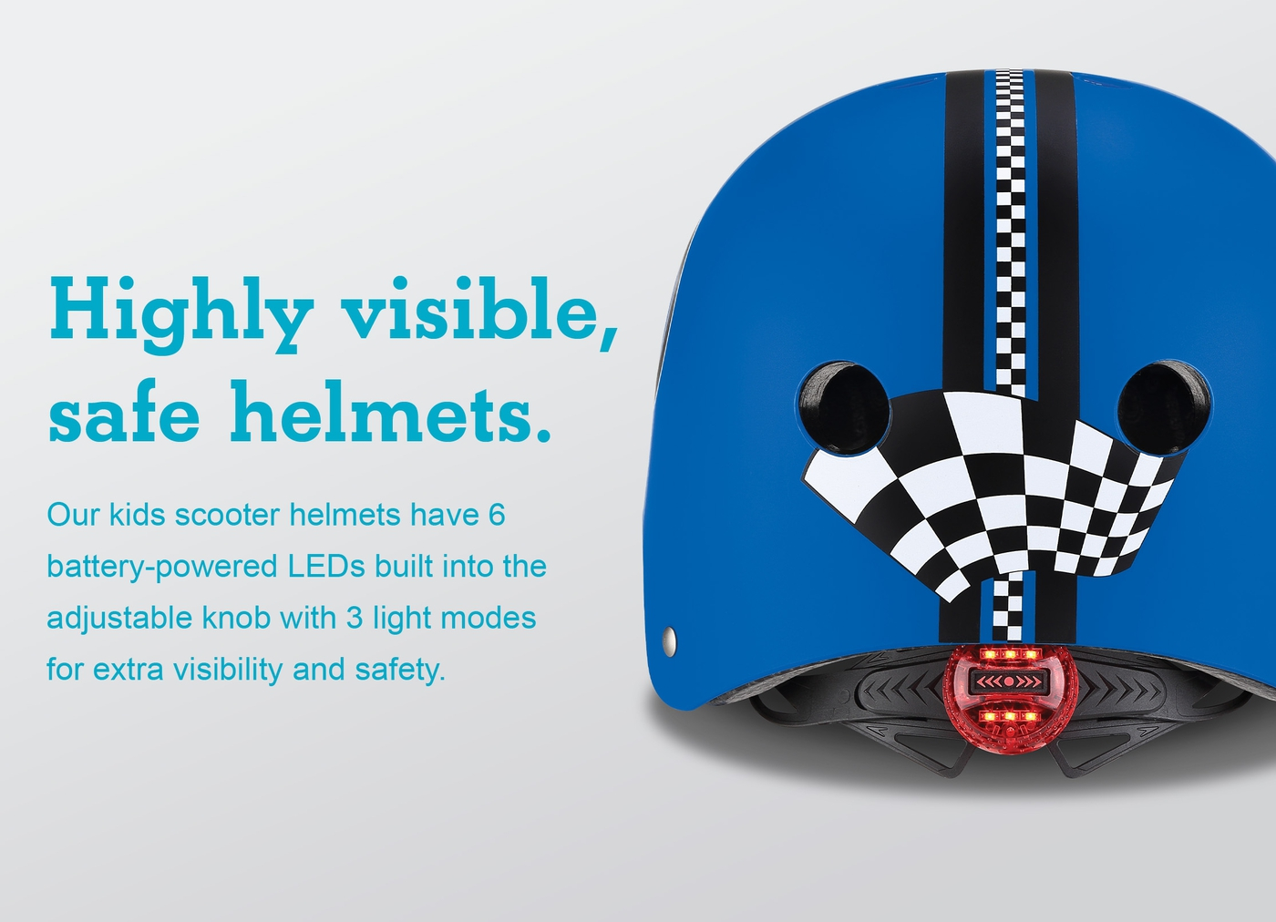 Highly visible, safe helmets.