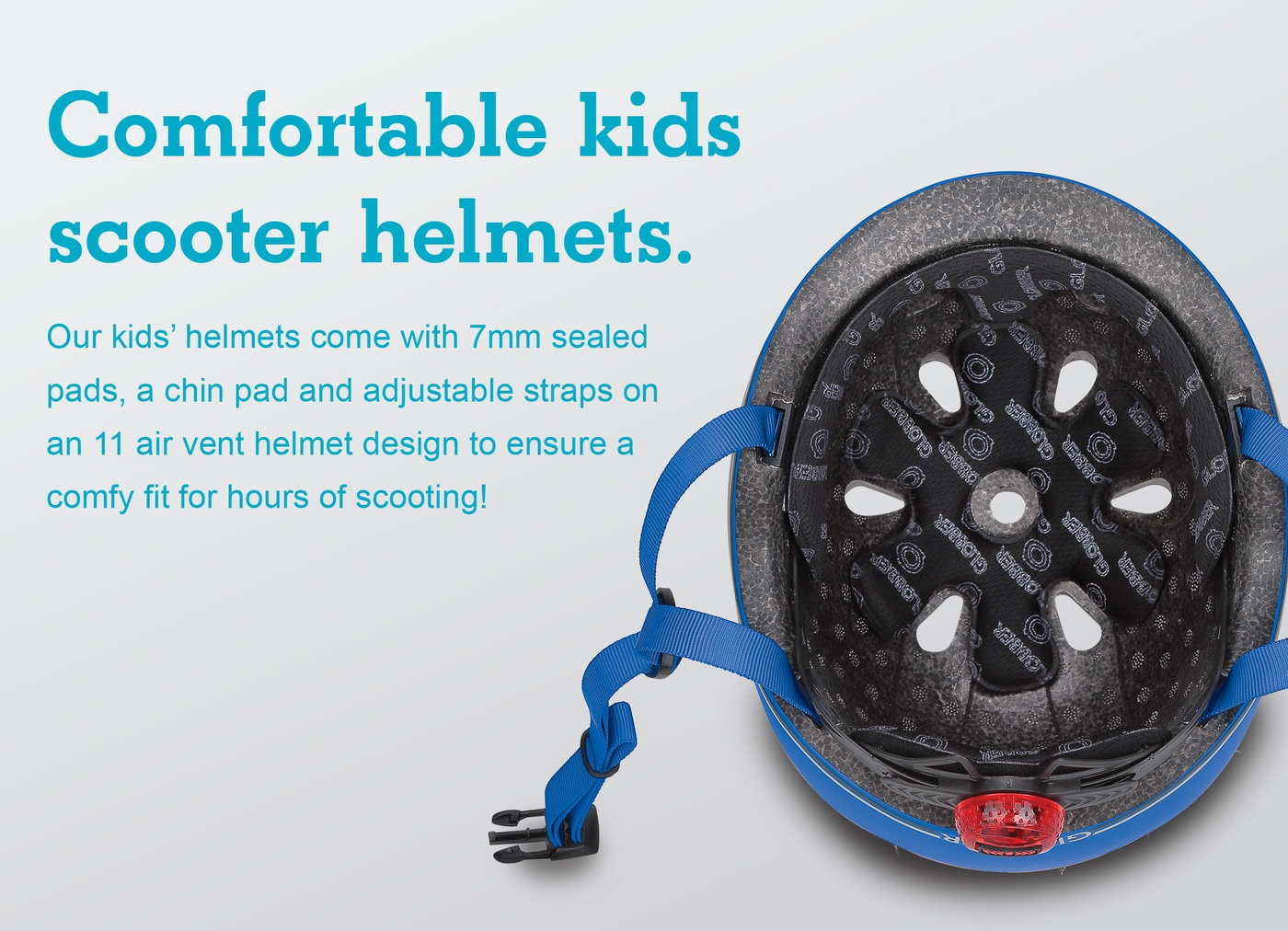 Comfortable kids scooter helmets.