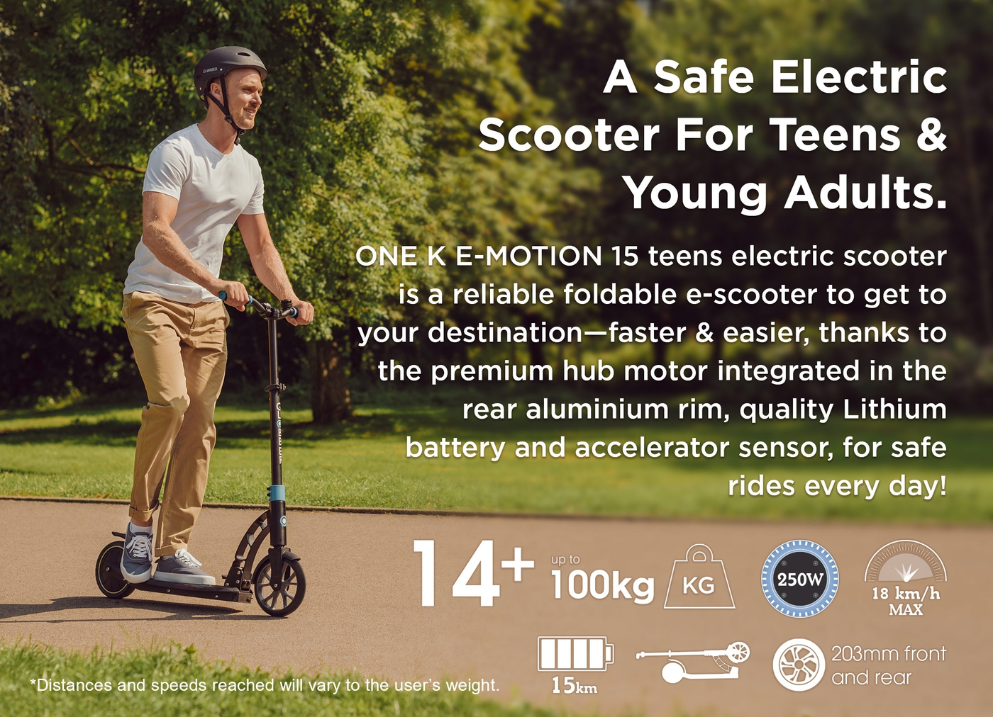 A Safe Electric Scooter For Teens & Young Adults.