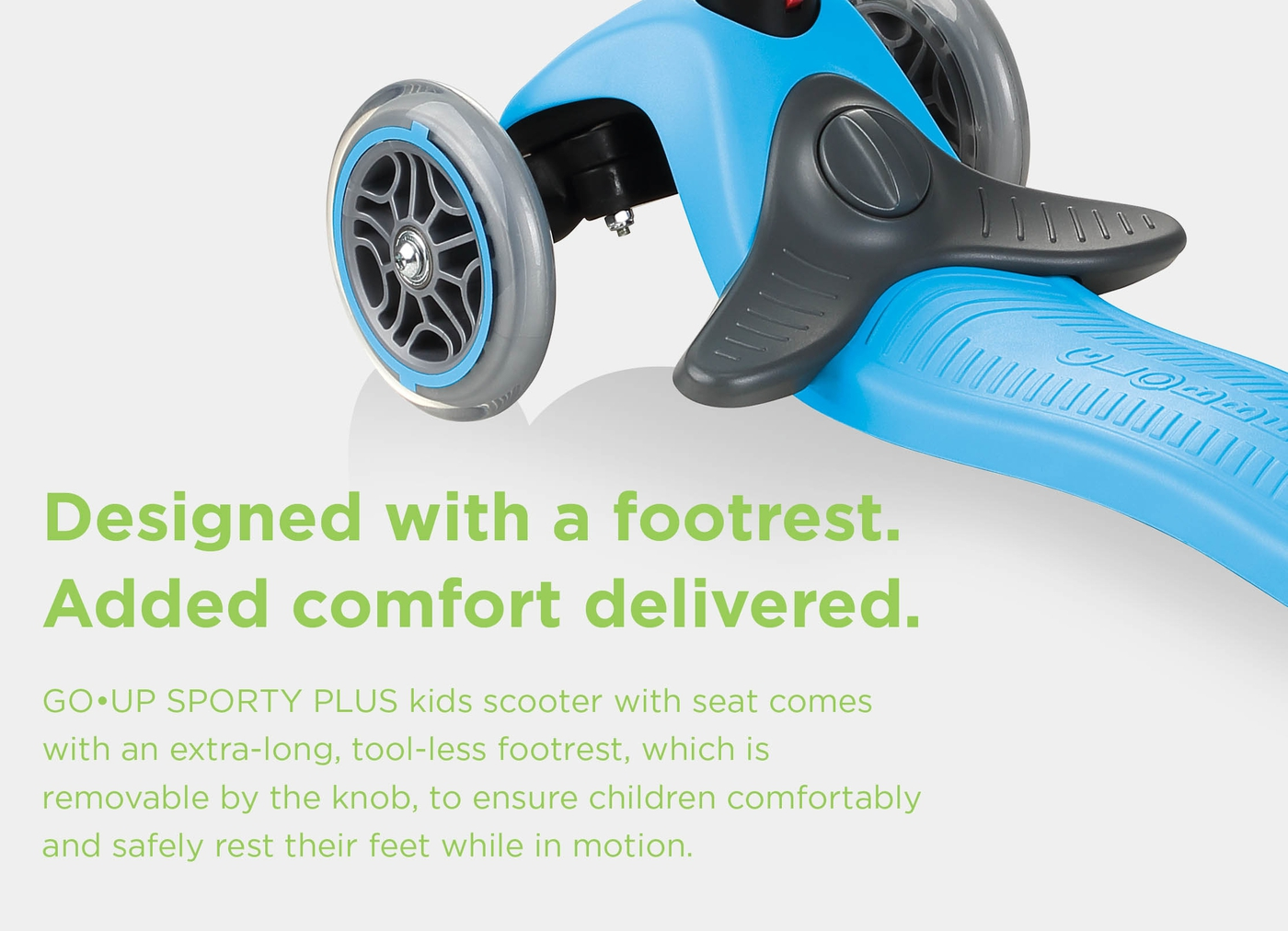 Designed with a footrest. Added comfort delivered.