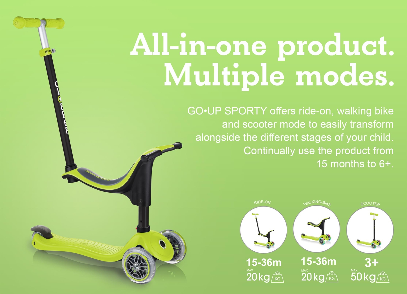 All-in-one product. Multiple modes.