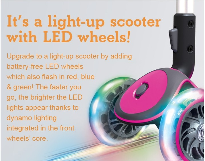 It's a light-up scooter with LED wheels!