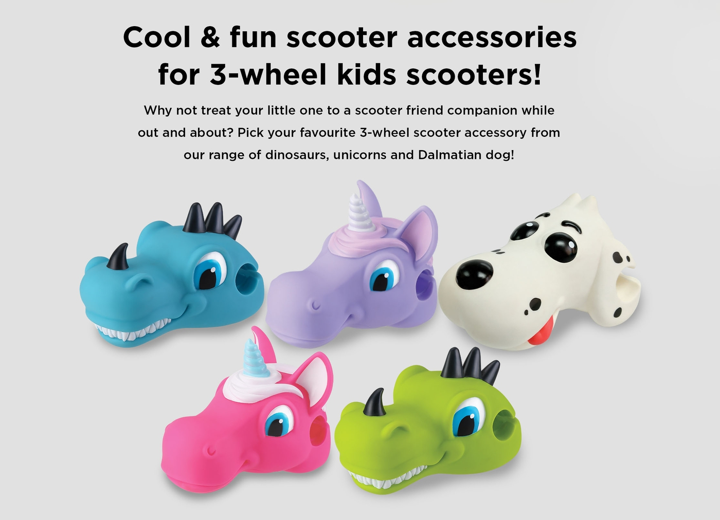 Cool & fun scooter accessories for 3-wheel kids scooters!