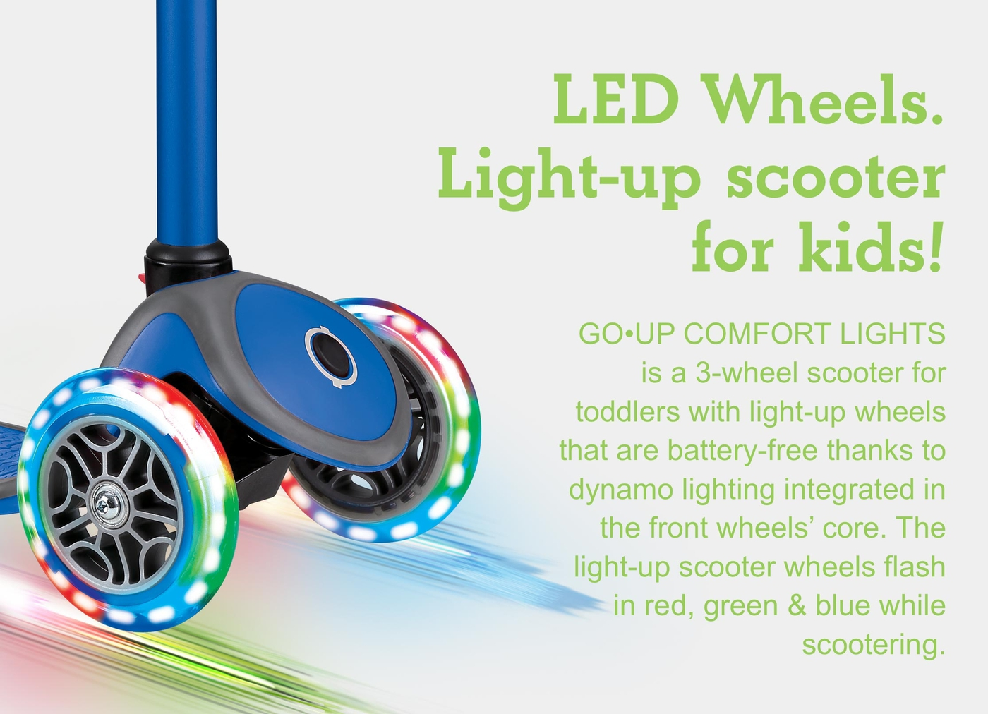 LED Wheels. Light-up scooter for kids!