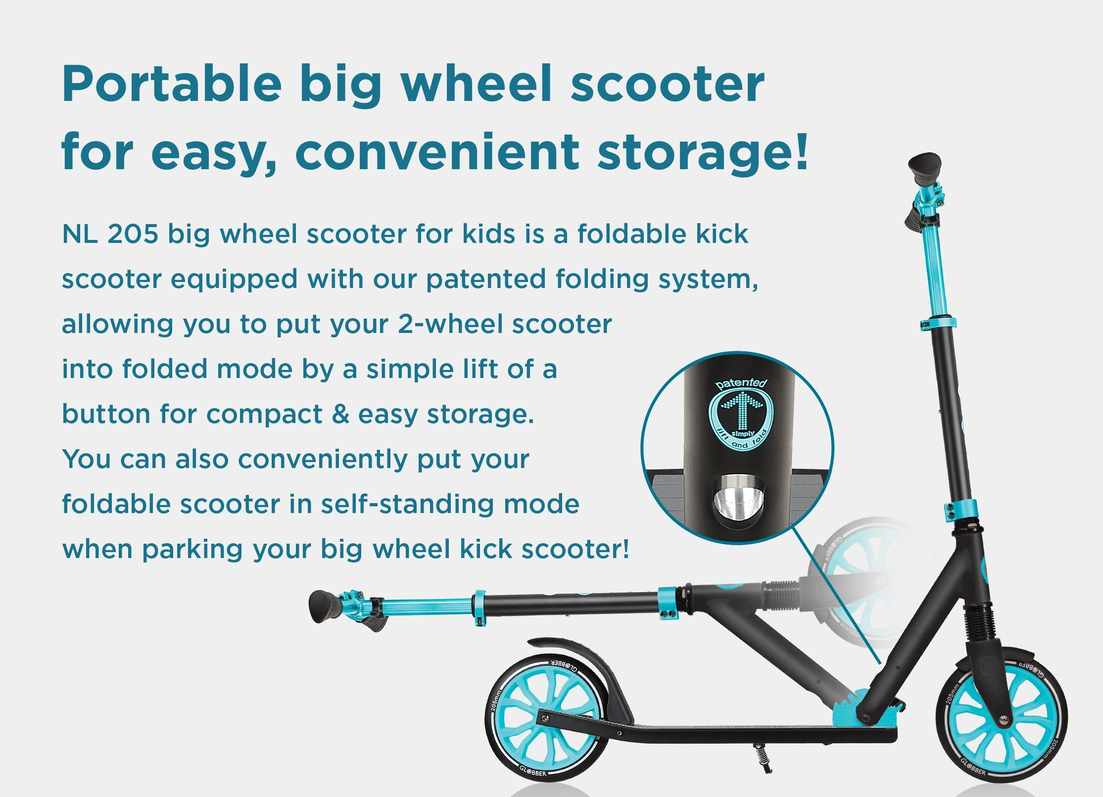 Best big wheel scooter for kids that's easy to carry around and store