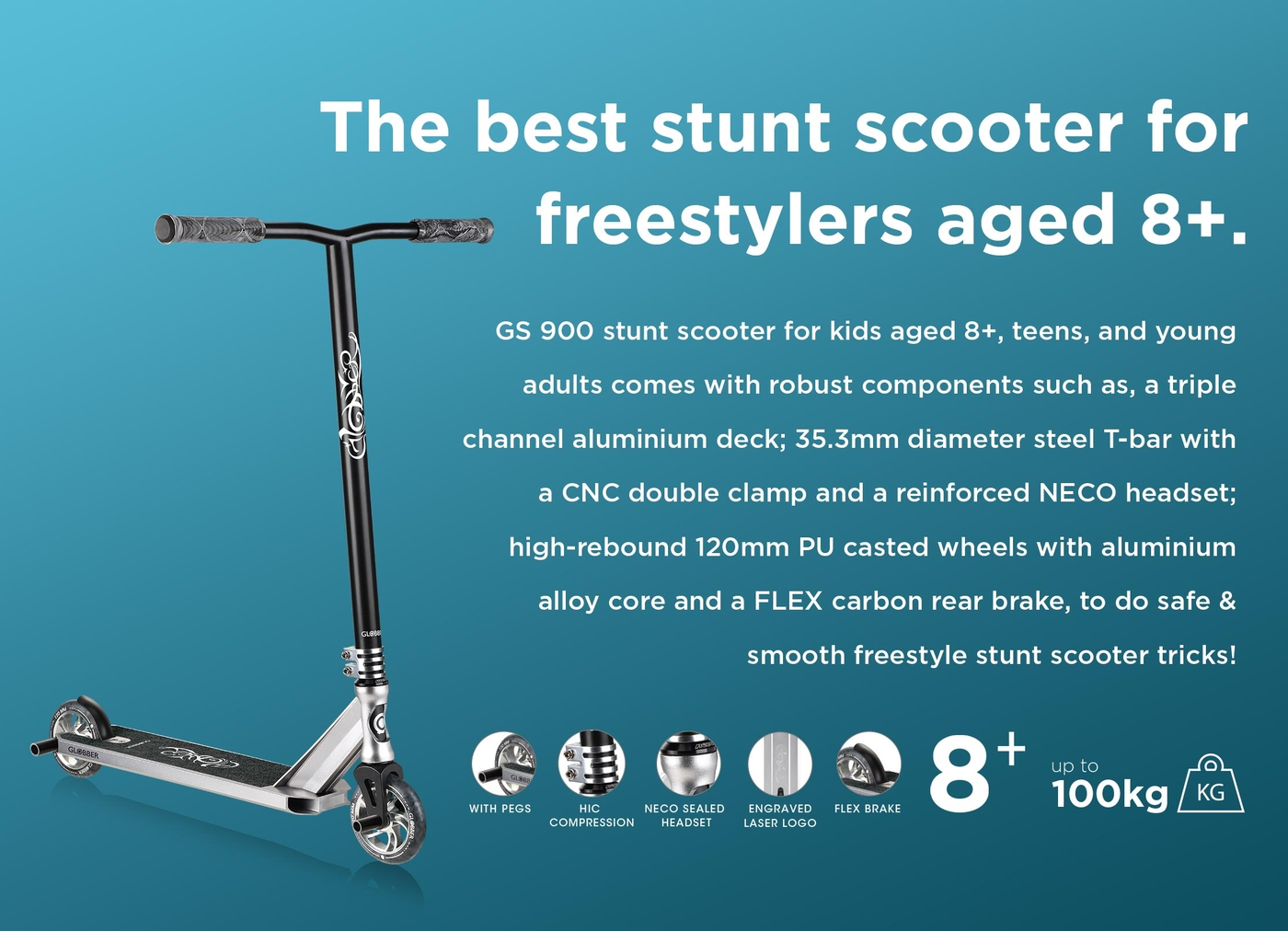 The best stunt scooter for freestylers aged 8+.