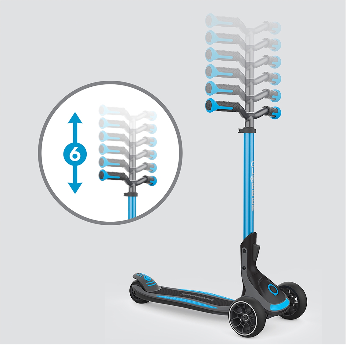 6-height adjustable T-bar