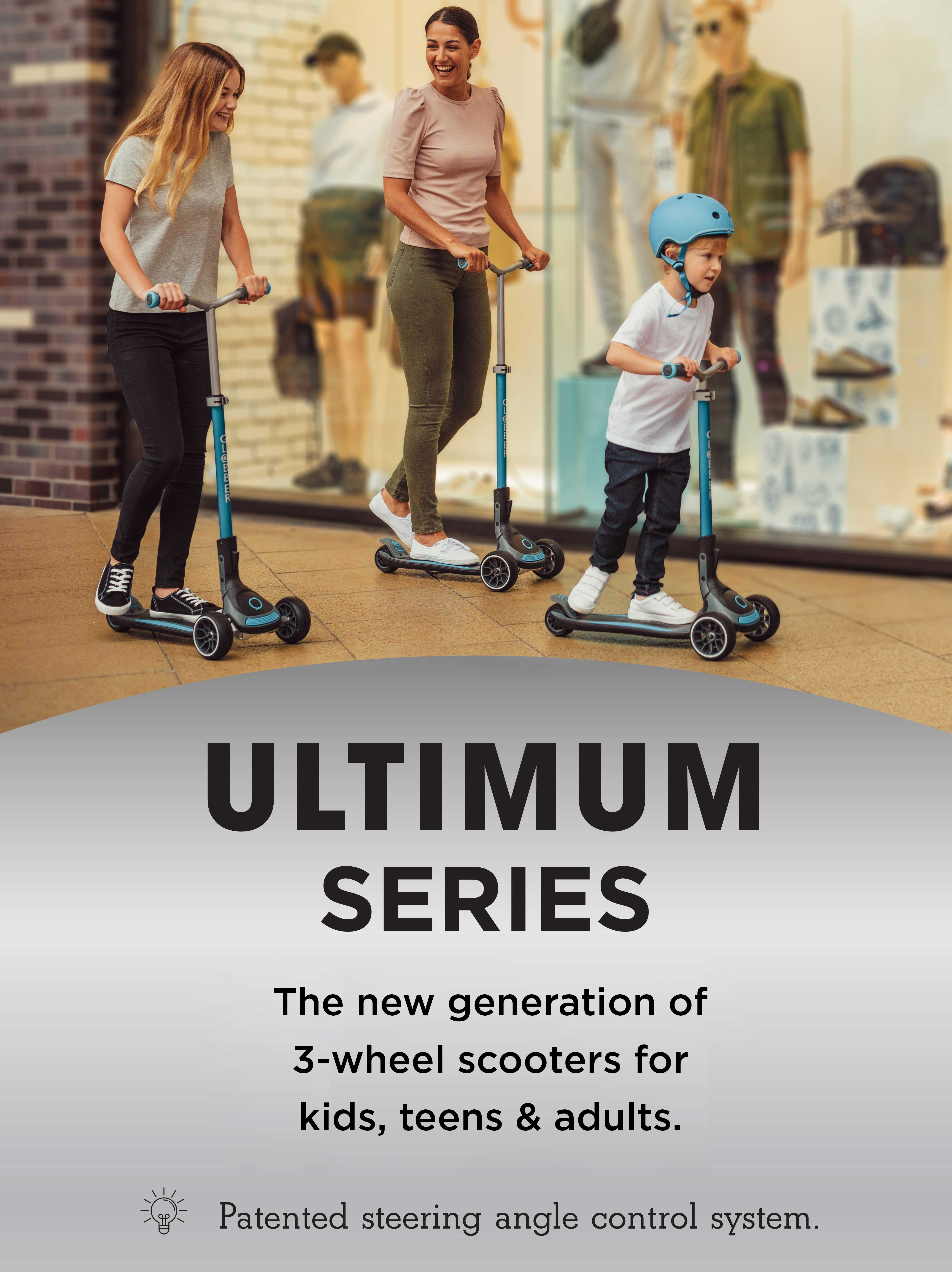 The new generation of 3-wheel scooters for kids & teens
