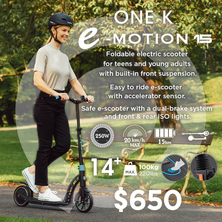 ONE K E-MOTION 15 electric scooter for adults and teens aged 14+