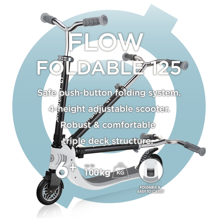 Scooters for all - FLOW FOLDABLE 125 2-wheel foldable scooter for kids & teens