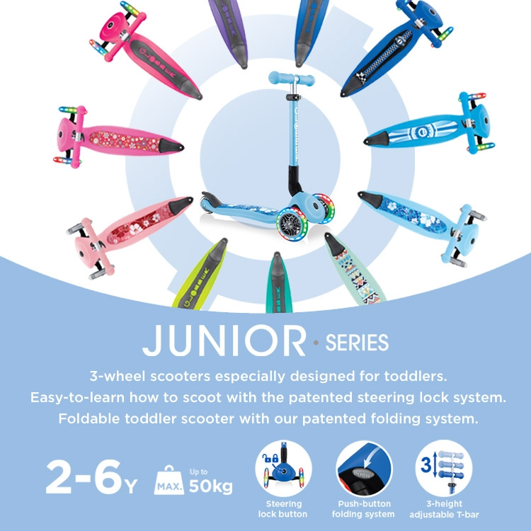 Globber-JUNIOR-3-wheel-scooters-for-2-years-old