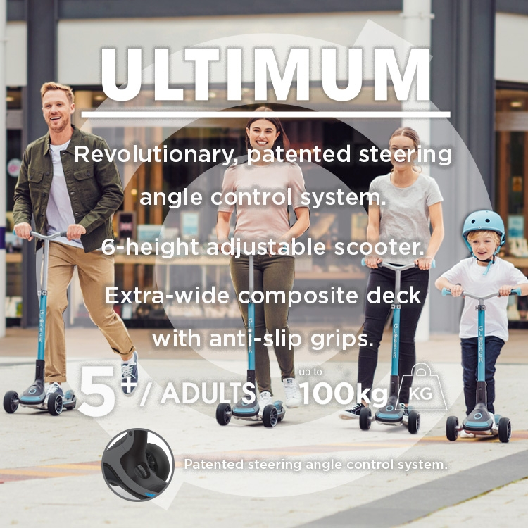 Scooters for all - ULTIMUM 3 wheel scooter for kids and teens.