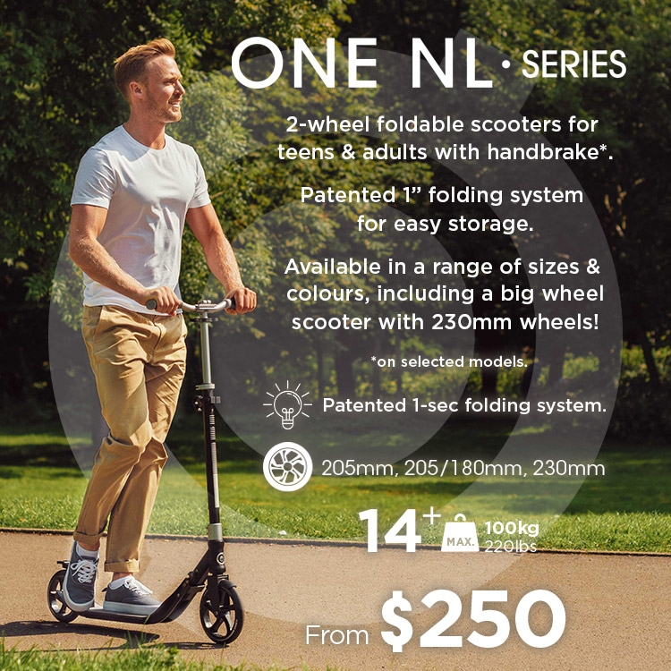 ONE NL 2-wheel foldable scooters for teens and adults