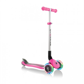 PRIMO-FOLDABLE-LIGHTS-3-wheel-foldable-scooter-light-up-scooter-for-kids-deep-pink