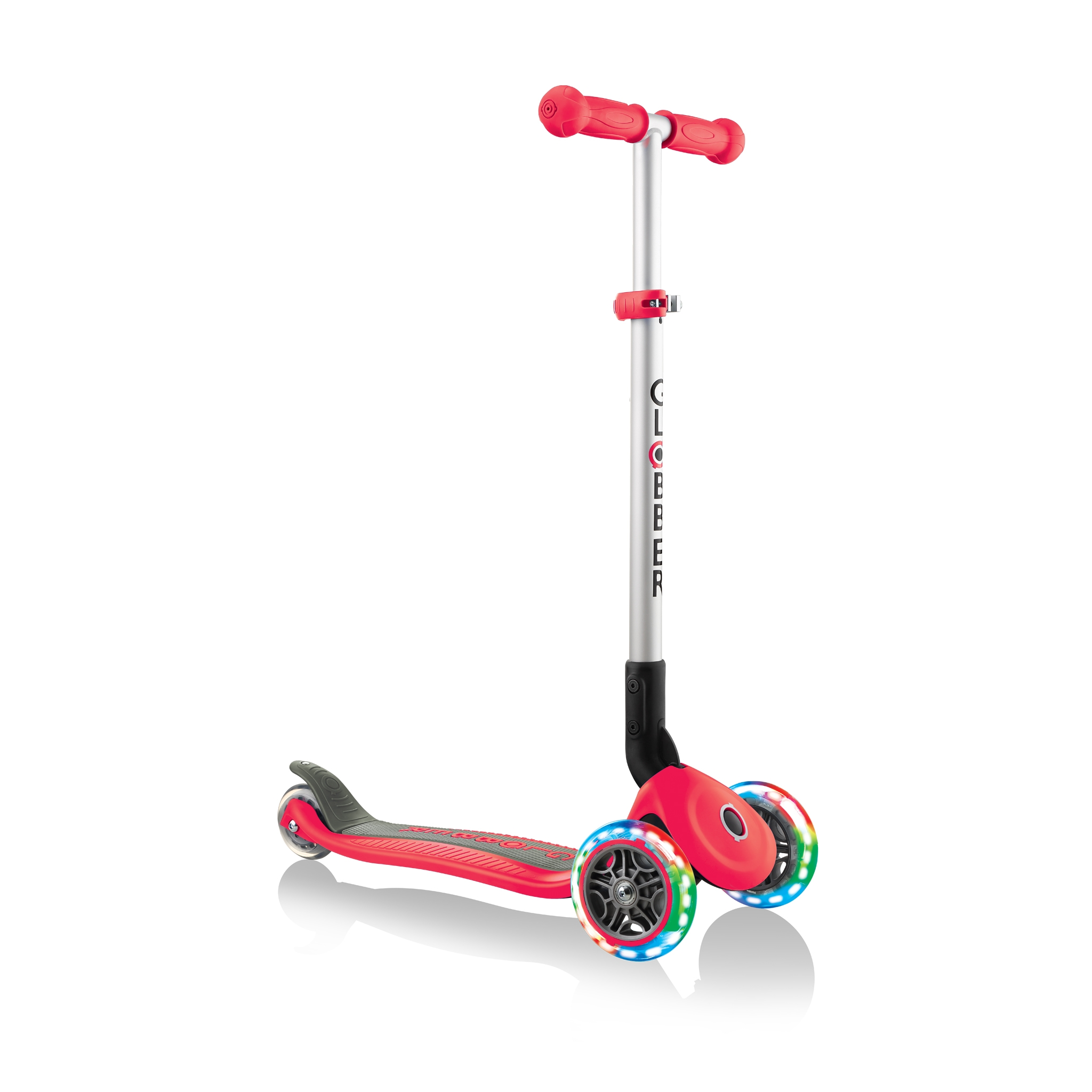 PRIMO-FOLDABLE-LIGHTS-3-wheel-foldable-scooter-light-up-scooter-for-kids-new-red