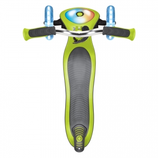 Globber-ELITE-PRIME-best-3-wheel-foldable-scooter-for-kids-with-light-up-scooter-deck-lime-green