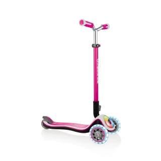 Globber-ELITE-PRIME-best-3-wheel-foldable-scooter-for-kids-aged-3+-pink
