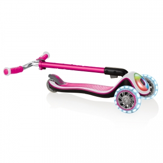 Globber-ELITE-PRIME-easy-foldable-3-wheel-scooter-for-kids-aged-3+-pink