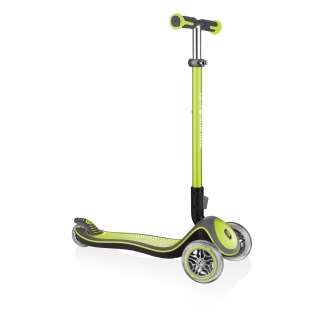 Globber-ELITE-DELUXE-Best-3-wheel-foldable-scooter-for-kids-aged-3+-lime-green