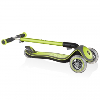Globber-ELITE-DELUXE-Best-3-wheel-foldable-scooter-for-kids-lime-green