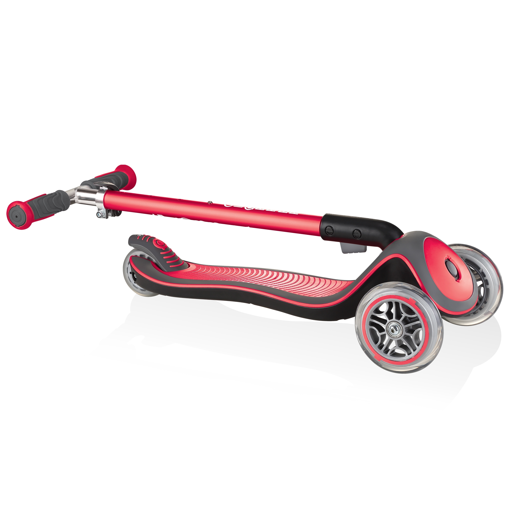 Globber-ELITE-DELUXE-Best-3-wheel-foldable-scooter-for-kids-new-red
