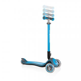Globber-ELITE-DELUXE-3-wheel-adjustable-scooter-for-kids-with-anodized-T-bar-sky-blue