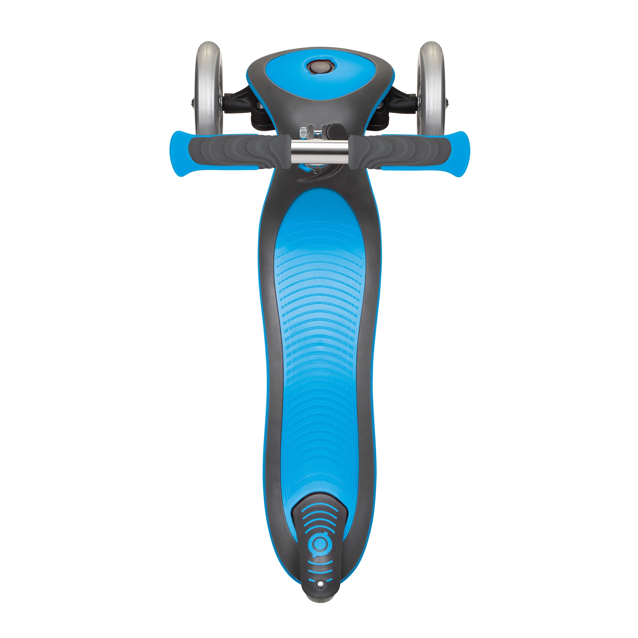 Globber-ELITE-DELUXE-3-wheel-foldable-scooter-for-kids-with-extra-wide-scooter-deck-sky-blue