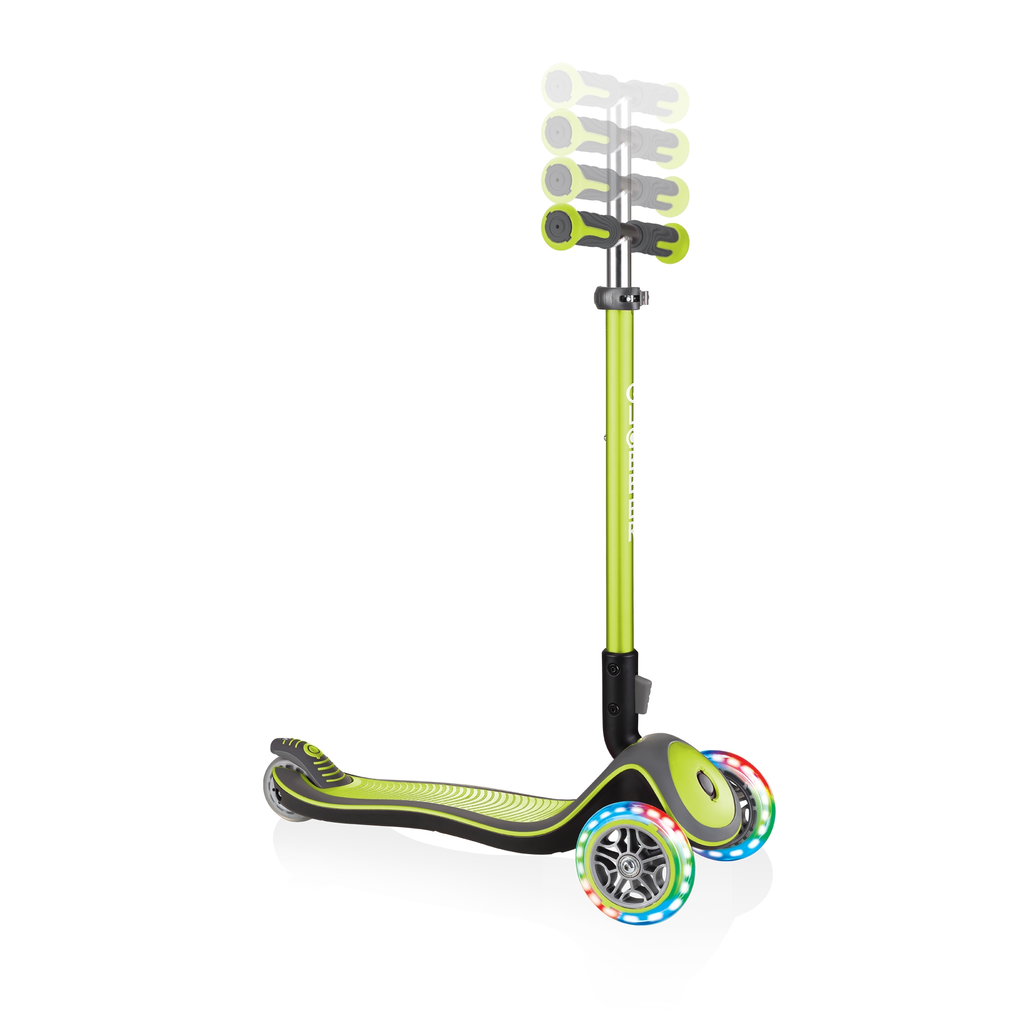 Globber-ELITE-DELUXE-LIGHTS-3-wheel-adjustable-scooter-for-kids-with-light-up-scooter-wheels-lime-green