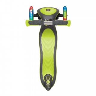 Globber-ELITE-DELUXE-LIGHTS-3-wheel-foldable-scooter-with-extra-wide-scooter-deck-lime-green