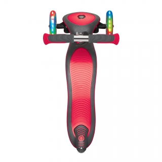 Globber-ELITE-DELUXE-LIGHTS-3-wheel-foldable-scooter-with-extra-wide-scooter-deck-new-red