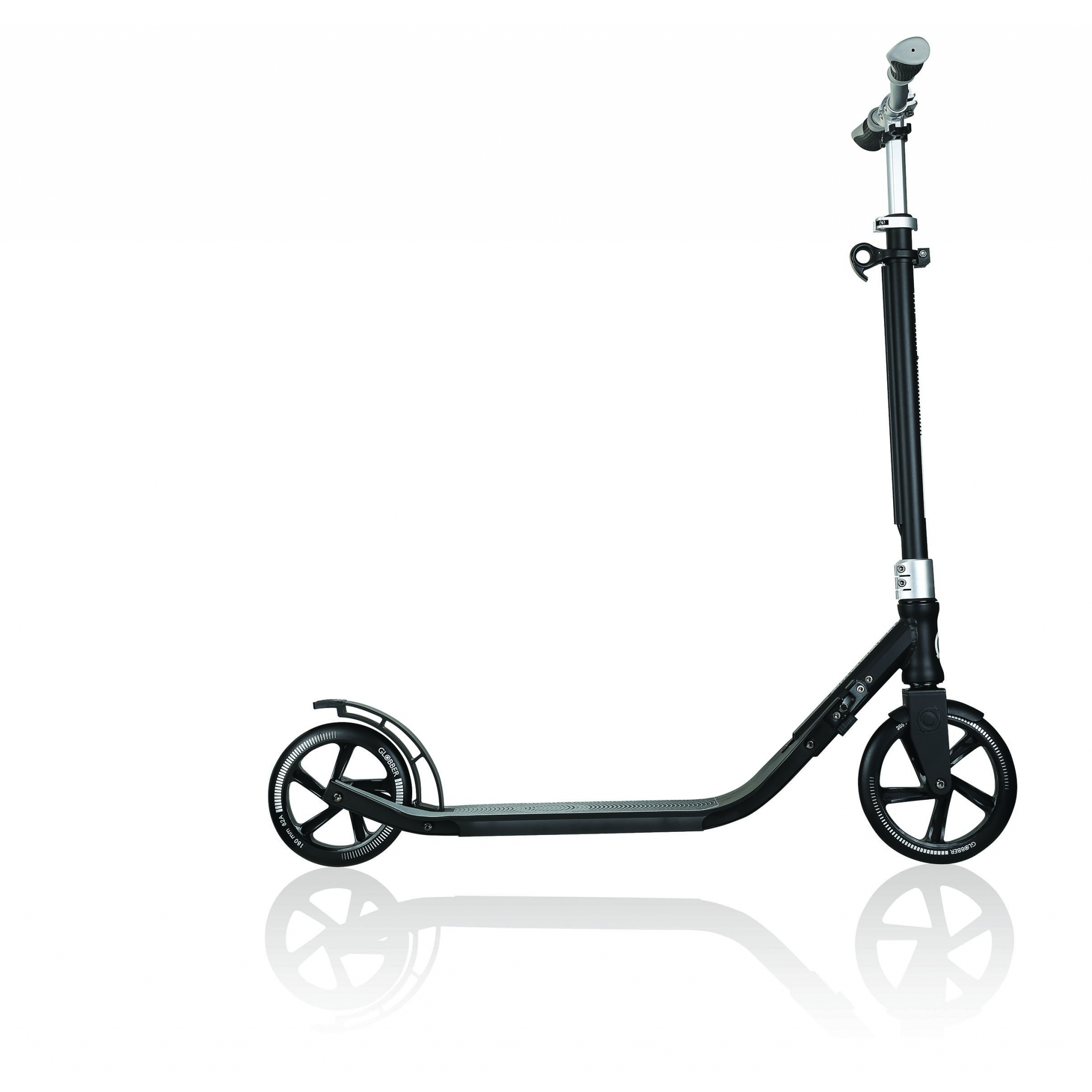 Globber-ONE-NL-205-180-DUO-2-wheel-foldable-scooter-for-adults-aluminium-deck-lead-grey