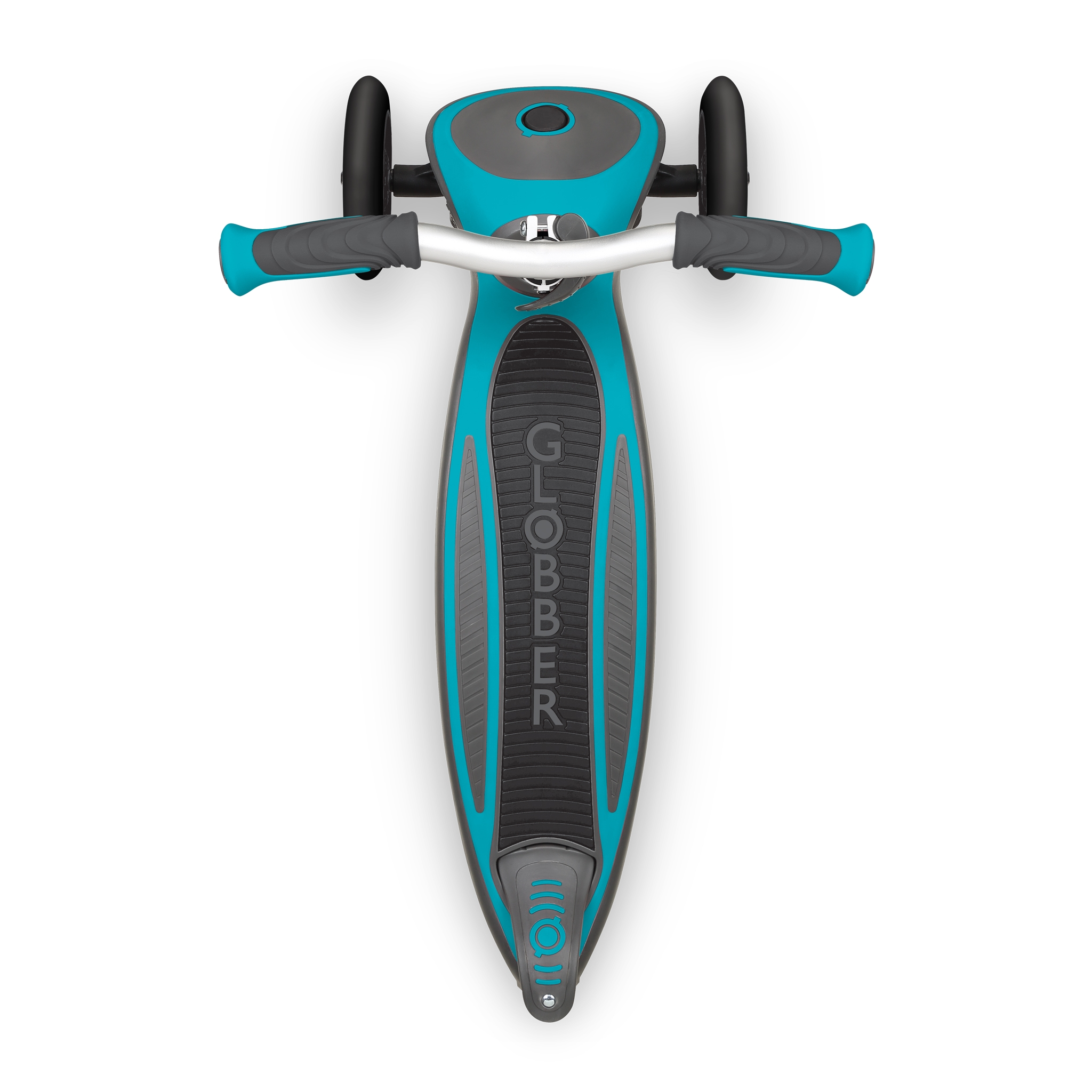 Globber-MASTER-3-wheel-foldable-scooter-for-kids-with-extra-wide-anti-slip-deck-for-comfortable-rides_teal